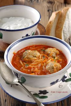 Healthy Soup Recipes, Cooking Recipes, Dumplings For Soup, Hungarian Recipes, Slow Cooker Soup, Food 52, Food Dishes, Soups And Stews, Food And Drink