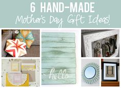 Express your love for your Mother by making her a homemade gift!  HowDoesShe.com  has several great ideas!!