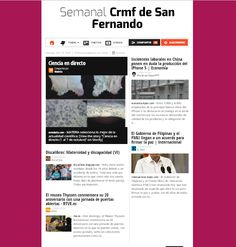 """Publicación semanal del """"Crmf de San Fernando"""" en Paper.li, un agregador de contenidos publicados en TW y otras fuentes relacionadas con los intereses del Centro:  desarrollo, rehabilitación, orientación y apoyo a las personas con diversidad funcional   http://paper.li/crmfSf/1337602751"""
