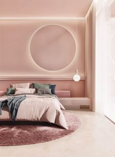 Bringing in those early spring vibes with this pink bedroom interior. We love this illuminated circle mirror 💡 Bedroom Inspirations, Beautiful Bedroom Designs, Bedroom Interior, Bedroom Design, Luxurious Bedrooms, Home Room Design, Orac Decor, Pink Interiors Design, House Interior