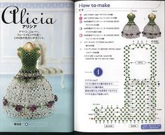 We continue the topic of beaded dresses :)  The main techniques, used to create beaded dresses is cross stitch.