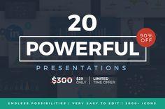 20 Powerful Presentations Bundle by Slidedizer on @creativemarket