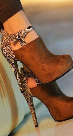 Gorgeous High Heel Camel Boho Stye Shoes 2016 Winter Arrivals ...