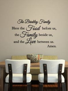 Custom Family Kitchen Vinyl Decal  Kitchen Vinyl Wall Art Decal Beauteous Wall Art For A Dining Room 2018