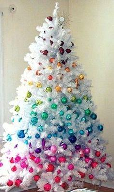 estilos de temticas de rboles de navidad blancos para decorar
