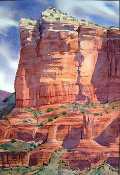 "Colossal by Linda Sherman Watercolor ~ 22"" x 15"""