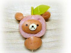 簡単キャラおかず:りんご被ったリラックマ by *MojiMoji* [クックパッド] 簡単おいしいみんなのレシピが150万品