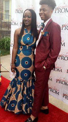 Ankara print prom dress 2016 Fashion Couple, All Fashion, Fashion Trends, African Clothes, African Dress, Ankara Fashion, African Fashion, Prom Dresses 2016, Winter Formal