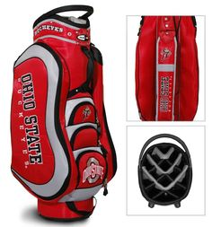 Play In Style With The Ncaa Ohio State Medalist Cart Golf Bag Features An Integrated Top Handle 14 Full Length Dividers More