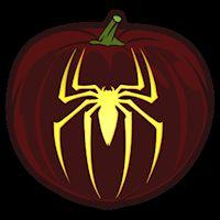 Spiderman Spider - Pumpkin Stencil