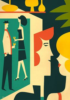 illustration / martini by iv orlov, via Behance