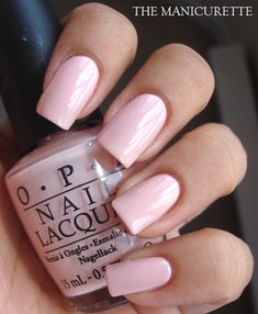 OPI Second Honeymoon - I have a thing for pinks and purple. Beautiful shade of pink...nice and soft; great with a summer tan!