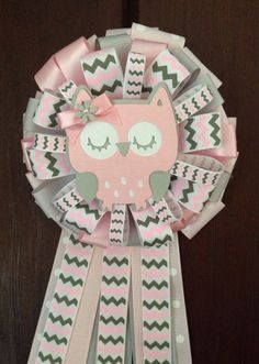 Find This Pin And More On Baby Shower. Grey And Pink Owl Mommy To Be ...