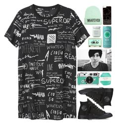 """""""HAPPY BIRTHDAY PHIL"""" by blood-under-the-skin ❤ liked on Polyvore featuring Monki, Laura Mercier, Wet Seal, Pelle, Converse, Zero Gravity, women's clothing, women, female and woman"""