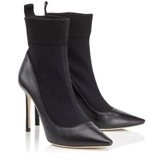 How Much Cheap Online Best Wholesale Cheap Online Brandon Stretch Booties in Black Nappa Leather and Stretch Fabric Jimmy Choo London ndqBEQj