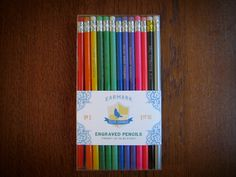 engraved pencils - great gift idea