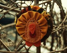 Splendid Thanksgiving Ornaments On Decor With Turkey Ornament Thanksgiving Decoration Felt And Yoyos Gallery