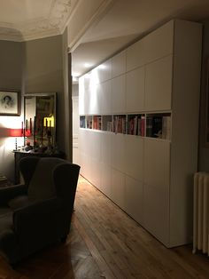 Besta Ikea unit With Wardrobe Modern Interior, Home Interior Design, Ikea Units, Contemporary Tv Stands, Ikea Living Room, Ikea Cabinets, Ikea Storage, Small Rooms, Apartment Living