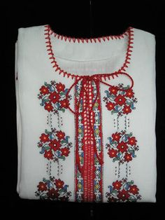 A beautiful Bulgarian blouse with embroidery