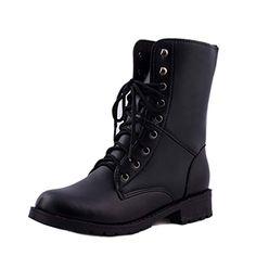 Garçon Fille Unisexe Enfants Tollder Martin Bottines Military Imperméable Chaussures Cool
