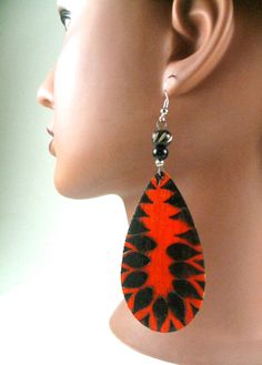 Pear Flamming Hot Earrings by JEHAANS on Etsy, $15.00