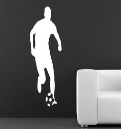 NEW Soccer Player Design Wall Decal for Boys Bedroom by olivejoose, $25.99