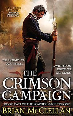 The Crimson Campaign (The Powder Mage Trilogy) by Brian McClellan http://www.amazon.com/dp/031621907X/ref=cm_sw_r_pi_dp_BVOUvb15X1YTH