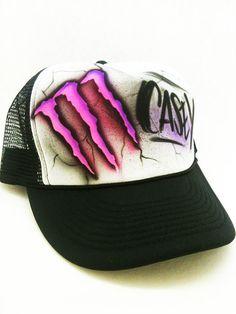 Monster Energy  snap back trucker style hat by 1stopairbrush, $8.99