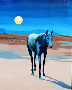 Midnight Blue by Sally Bartos, New Mexico artist. Her work is available from bartos on Etsy.