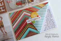 niebuhrchicks | really like how she folded up the two-sided paper and then put her journaling beneath the fold