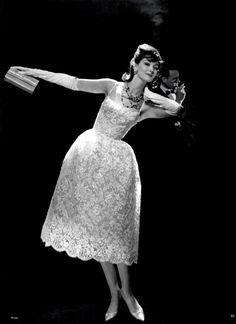 1960 lace dress Jacques Griffe