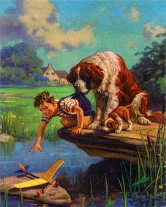 Boy's Best Friend Vintage Artwork