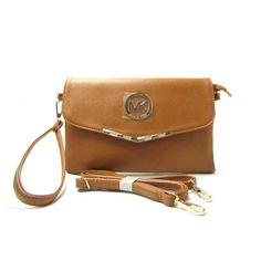 Michael Kors Fulton Messenger Small Tan Crossbody Bags