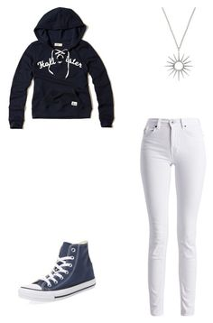 """""""Untitled #488"""" by meganbramey ❤ liked on Polyvore featuring Hollister Co., Barbour International and Converse"""