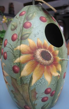 sunflower birdhouse large