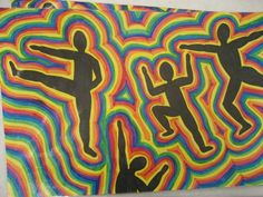 figure proportion KEITH HARING STYLE Art Hoe, Op Art, Keith Haring Art, Grace Art, 4th Grade Art, Art Courses, Middle School Art, Silhouette Art, School Themes