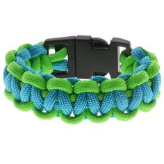 My fave paracord Tutorial - How to: Basic 2 Color Paracord Bracelet - Green and Blue | Beadaholique