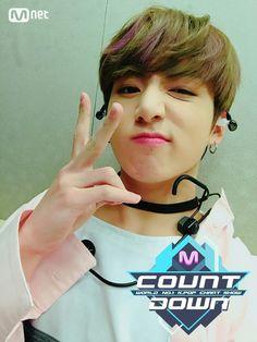 Jungkook❤ BTS At MCOUNTDOWN Selfie! (170223) #BTS #방탄소년단