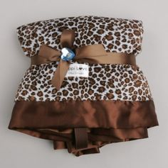 Blue Cheetah Little Blanket