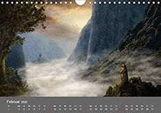 Zwielicht - Fantasylandschaften Wandkalender 2020 DIN A4 quer: Amazon.de: Simone Wunderlich: Bücher Digital Art, Painting, Wall Calendars, Painting Art, Paintings, Draw
