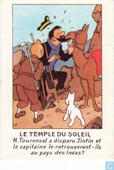 Carte postale - Tintin - Le temple du soleil