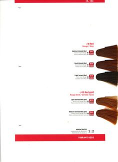 Wella Color Touch Swatch Book | Color Mean Chart Splash