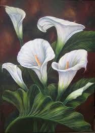 Resultado de imagen para pinturas flores alcatraces