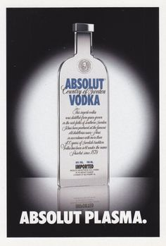 Absolut Plasma - # 296 - Promocard - Italy - # 5.303