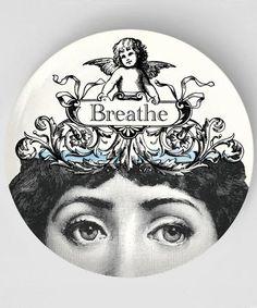 Breathe, original design, famous Cavalieri engraving on Melamine Plate, Cavalieri art, Lina Cavalieri theme, Cavalieri variation