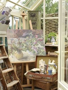 Image result for ideas for art studio cottage interiors