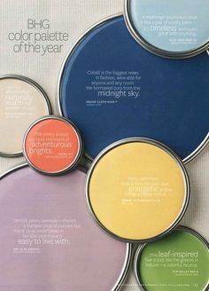 2015+bhg+color+palette+of+the+year | Better Homes and Gardens color palette of the year.