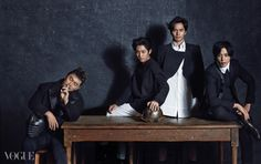 All For One And One For All: Lee Jin Wook, Jung Yonghwa, Yang Dong Geun, & Jung Hae In For Vogue Korea