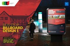 Bus Stop Billboard Design 1 by Cooledition on @creativemarket
