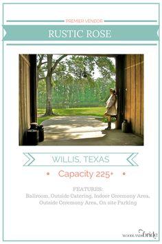 Rustic Rose - North Houston Wedding Venue Guide // WoodlandsBride.com